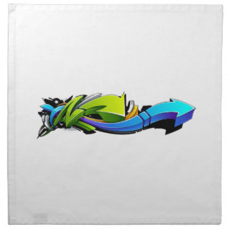 Graffiti Abstract Art Napkin