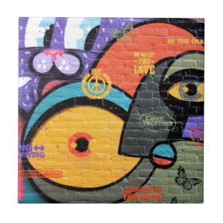 Graffiti art small square tile