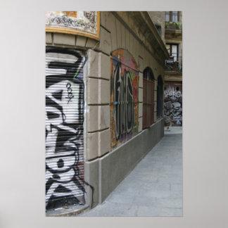 Graffiti - Barcelona Poster