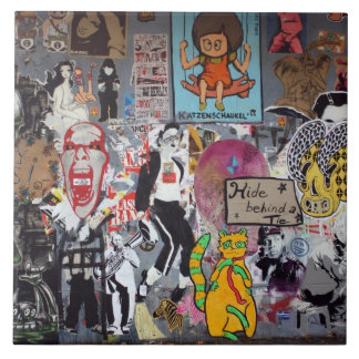 Graffiti, Berlin, Germany Ceramic Tile