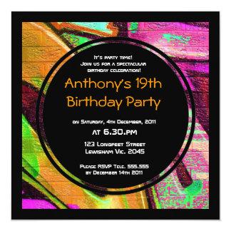 Graffiti Birthday Invitation
