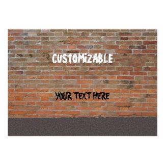 Graffiti Brick Wall Customizable Personalized Invitations