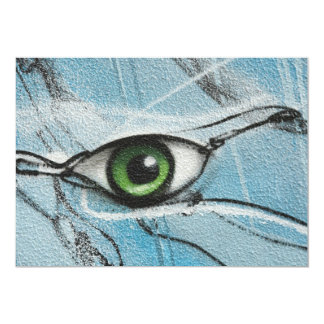 Graffiti Eye 13 Cm X 18 Cm Invitation Card