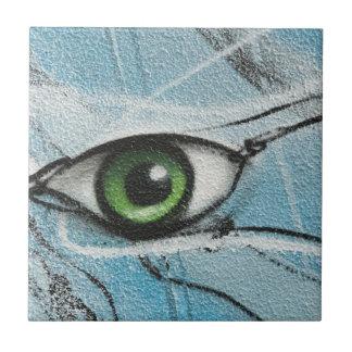 Graffiti Eye Small Square Tile