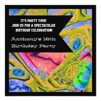 Graffiti Gothic Web Birthday Invitation