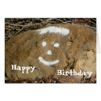 Graffiti Happy Face Birthday Card