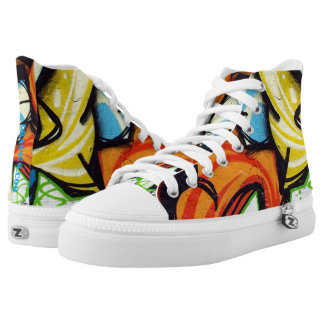 Graffiti HipHop One High Tops