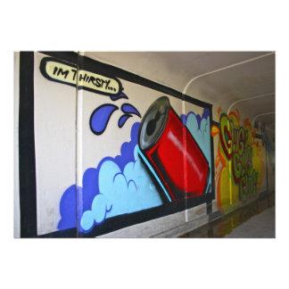 Graffiti in a subway I m Thirsty Invitation