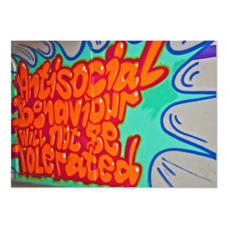 Graffiti in a subway Invitation