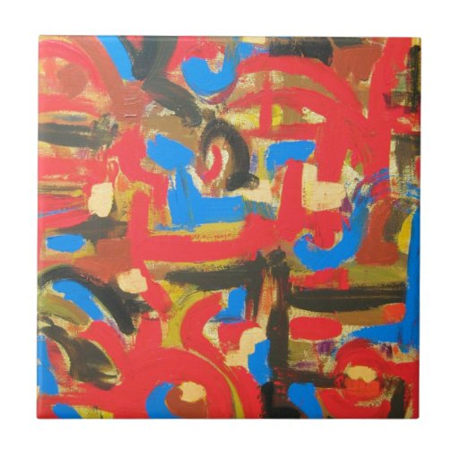 Graffiti In The Attic - Abstract Art Tiles