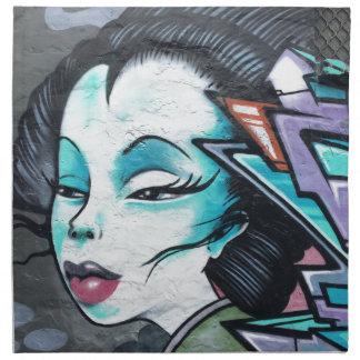 Graffiti lady napkin