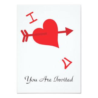 Graffiti Love - Valentines Day 11 Cm X 16 Cm Invitation Card