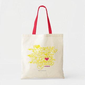 Graffiti Magenta/Yellow Tote Bag