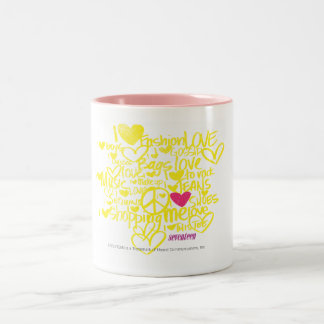 Graffiti Magenta/Yellow Two-Tone Coffee Mug