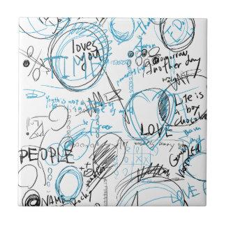 Graffiti of circles small square tile