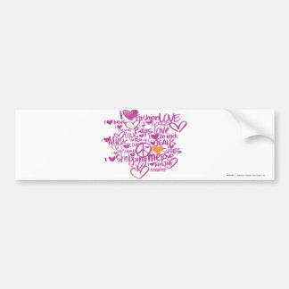 Graffiti Orange/Purple Bumper Sticker