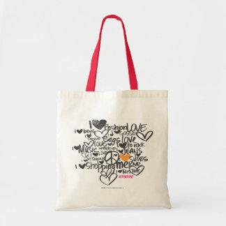 Graffiti Orange Tote Bag