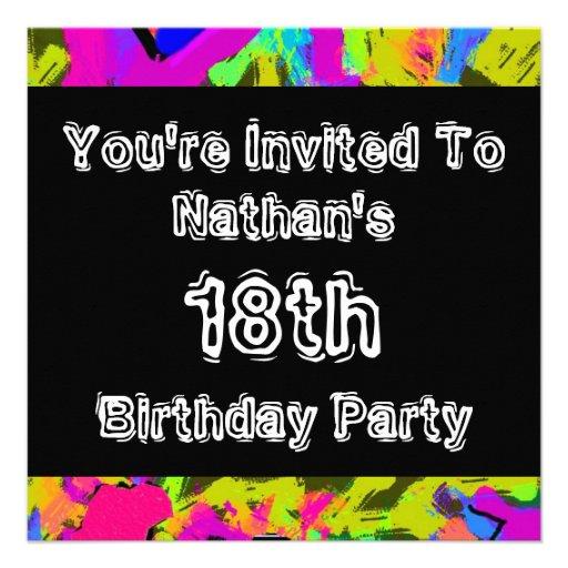 Graffiti ~ Party Invite