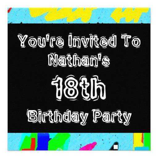 Graffiti ~ Party Personalized Invitations