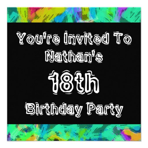 Graffiti ~ Party Invitations