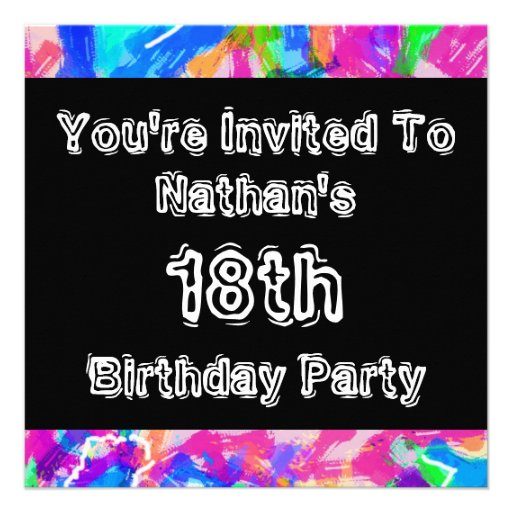Graffiti ~ Party Custom Invitations