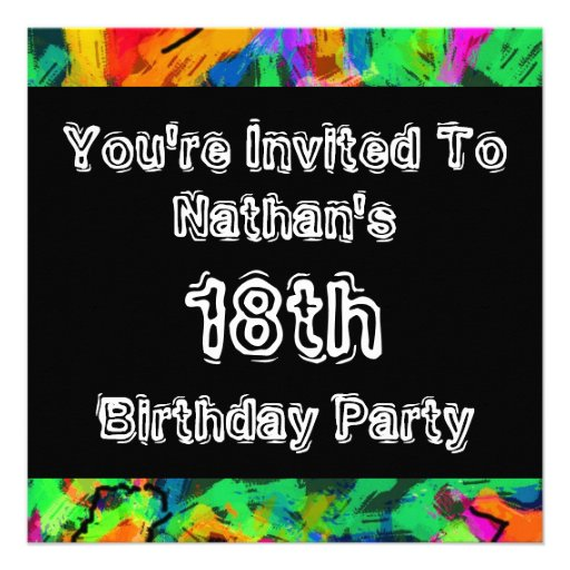 Graffiti ~ Party Personalized Invitations