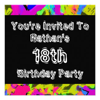 Graffiti Party Invite
