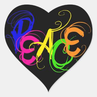 Graffiti Peace Heart Sticker
