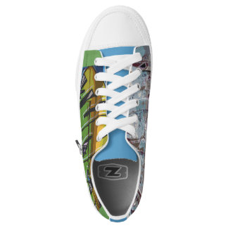 Graffiti Print Tennis Shoes Music Tunes Abstract Printed Shoes