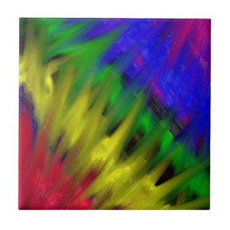 Graffiti Rainbow Tile