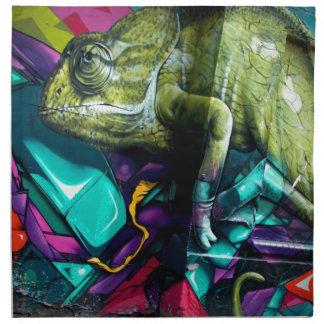 Graffiti reptile napkin