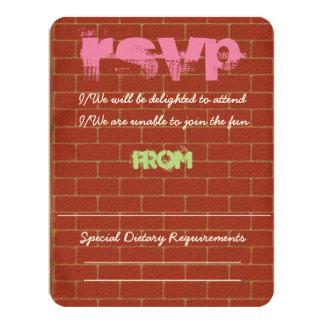 Graffiti RSVP 11 Cm X 14 Cm Invitation Card