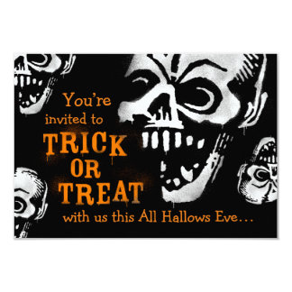 Graffiti Stencil Skull Halloween Invitation