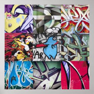 Graffiti (Street Art) Collage Poster