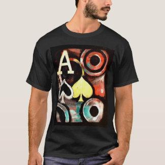 Graffiti style Poker T shirt Ace of Spades