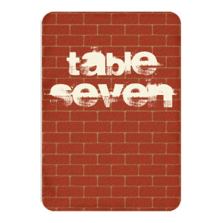 Graffiti Table Number Sign 9 Cm X 13 Cm Invitation Card
