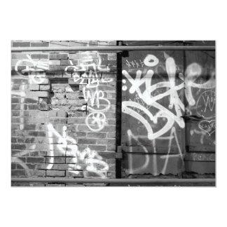 Graffiti wall in grunge, New York City 13 Cm X 18 Cm Invitation Card