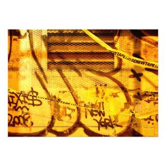 Graffiti wall in grunge New York City Invitations