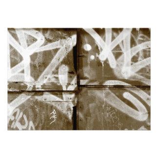 Graffiti wall in grunge New York City Invites