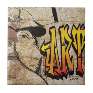 Grafiti Artist Small Square Tile