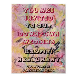 GRAFITI WEDDING INVITATION