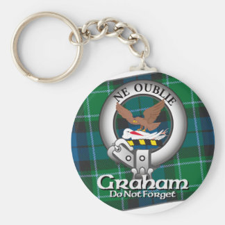 Graham Clan Basic Round Button Key Ring