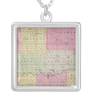 Graham County, Kansas Silver Plated Necklace