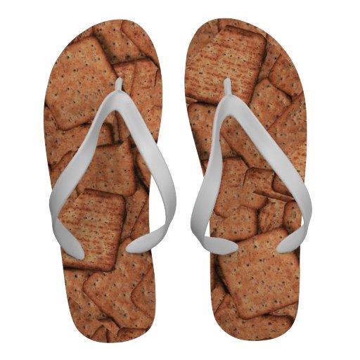 Graham Cracker Novelty Flip Flops