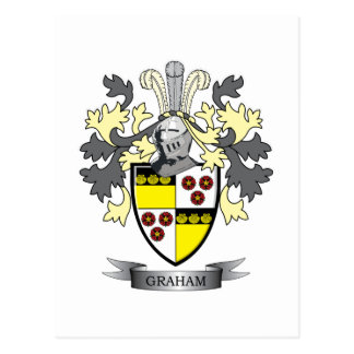 Graham Family Crest Coat of Arms Postcard