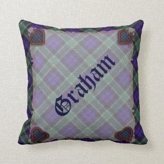 Graham Scottish clan tartan - Plaid Cushion