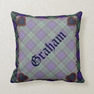 Graham Scottish clan tartan - Plaid Throw Pillow