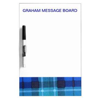 GRAHAM SCOTTISH FAMILY TARTAN DRY ERASE WHITE BOARD