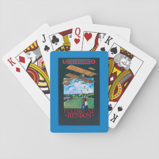 Grahame-White And Plane over Aerodrome Poster Playing Cards