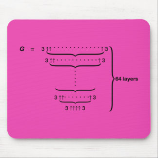 """GRAHAM'S NUMBER"" MOUSE PAD"